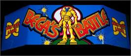 Arcade Cabinet Marquee for Bega's Battle.