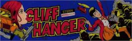 Arcade Cabinet Marquee for Cliff Hanger.