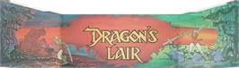 Arcade Cabinet Marquee for Dragon's Lair.