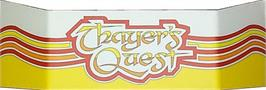 Arcade Cabinet Marquee for Thayer's Quest.