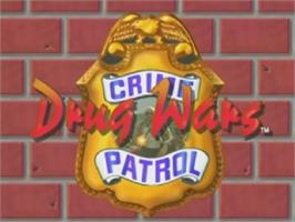 Title screen of Crime Patrol 2: Drug Wars on the Laserdisc.