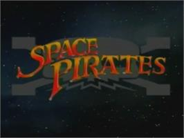 Title screen of Space Pirates on the Laserdisc.