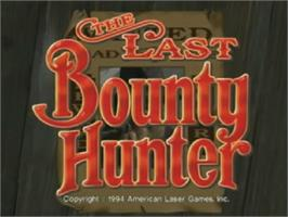 Title screen of The Last Bounty Hunter on the Laserdisc.