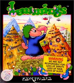 Box cover for Lemmings on the MGT Sam Coupe.