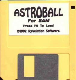 Artwork on the Disc for Astroball (Demo) on the MGT Sam Coupe.