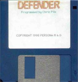 Artwork on the Disc for Defender on the MGT Sam Coupe.