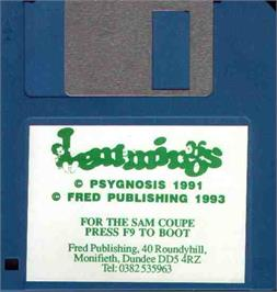 Artwork on the Disc for Lemmings: GFX IFF 2 on the MGT Sam Coupe.