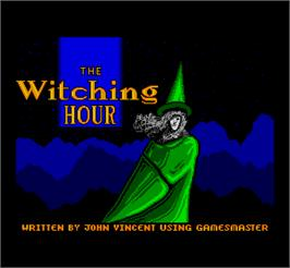 Title screen of Hexagonia & Witching Hour on the MGT Sam Coupe.