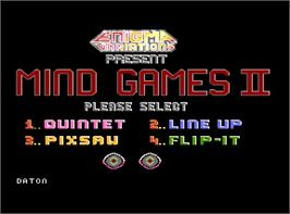 Title screen of Mind Games 2 on the MGT Sam Coupe.