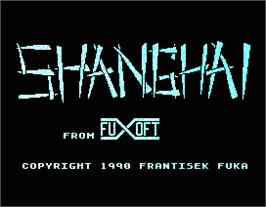 Title screen of Shanghai on the MGT Sam Coupe.