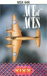 Box cover for Ace of Aces on the MSX.