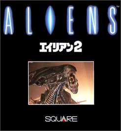 Box cover for Aliens on the MSX.