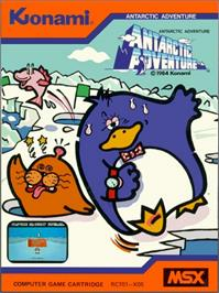 Box cover for Antarctic Adventure on the MSX.