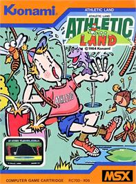 Box cover for Athletic Land on the MSX.