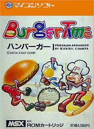 Box cover for Burger Time on the MSX.