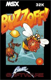 Box cover for Buzz Off on the MSX.
