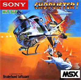 Box cover for Choplifter on the MSX.