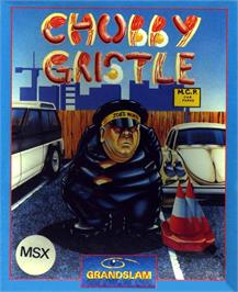 Box cover for Chubby Gristle on the MSX.