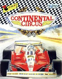 Box cover for Continental Circus on the MSX.