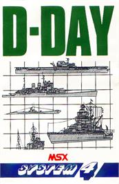 Box cover for D-Day on the MSX.
