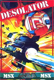 Box cover for Desolator on the MSX.