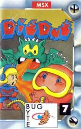 Box cover for Dig Dug on the MSX.
