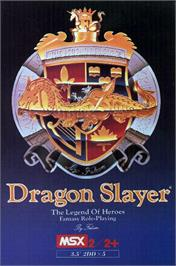 Box cover for Dragon Slayer: The Legend of Heroes on the MSX.