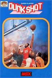 Box cover for Dunk Shot on the MSX.