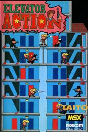 Box cover for Elevator Action on the MSX.