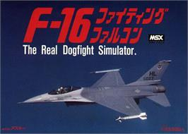 Box cover for F-16 Fighting Falcon on the MSX.