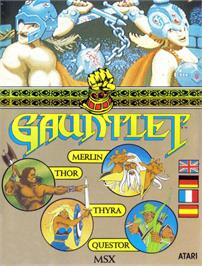 Box cover for Gauntlet on the MSX.