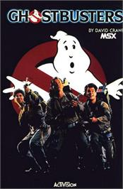 Box cover for Ghostbusters on the MSX.
