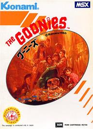 Box cover for Goonies, The on the MSX.