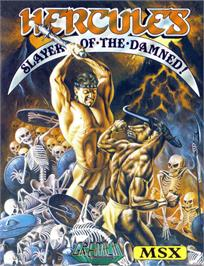 Box cover for Hercules: Slayer of the Damned on the MSX.