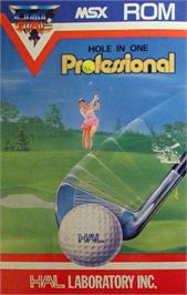 Box cover for Hole in One Professional on the MSX.