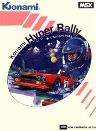 Box cover for Hyper Rally on the MSX.