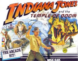 Box cover for Indiana Jones and the Temple of Doom on the MSX.