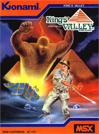Box cover for King's Valley on the MSX.