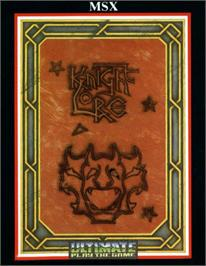 Box cover for Knight Lore on the MSX.