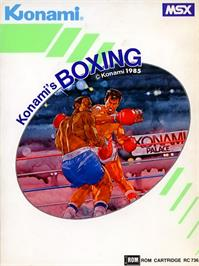 Box cover for Konami's Boxing on the MSX.