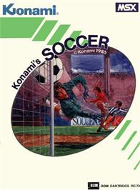 Box cover for Konami's Soccer on the MSX.