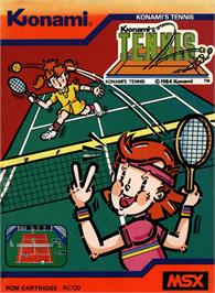 Box cover for Konami's Tennis on the MSX.