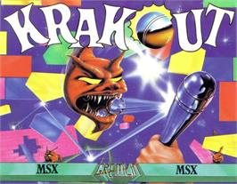 Box cover for Krakout on the MSX.