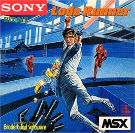 Box cover for Lode Runner on the MSX.