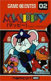 Box cover for Mappy on the MSX.