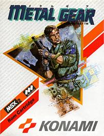 Box cover for Metal Gear on the MSX.