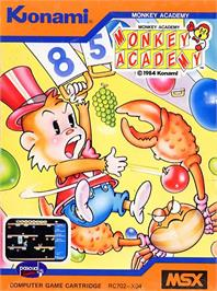 Box cover for Monkey Academy on the MSX.