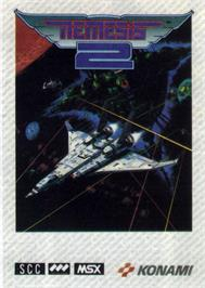 Box cover for Nemesis 2 on the MSX.