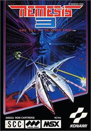 Box cover for Nemesis 3: The Eve of Destruction on the MSX.