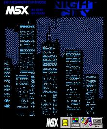 Box cover for Night City on the MSX.